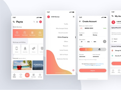 Current Project gray calendar clean concept design gender paytm radio my account mobile wallet verify app