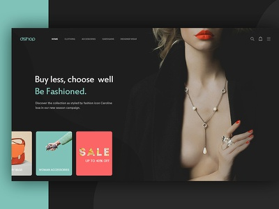 dShop layout ecommerce ui store scroll gallery fashion accessories cart