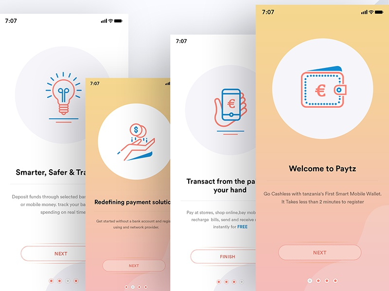 Wallet App Onboarding by M S Brar for Master Creationz on Dribbble