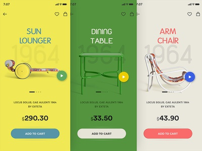 Furniture cart rate dollar 1964 chairs table shopping furniture apps mobile app