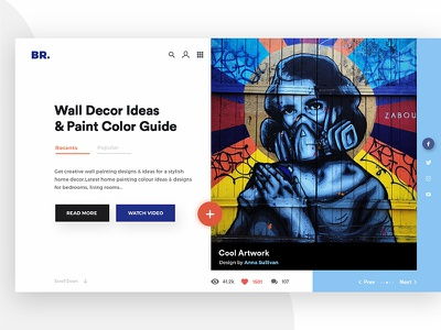 Wall Decor And Paintings (Light Theme) app website modern typography clean color icon illustration uiux interface creative design