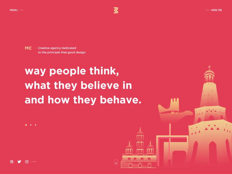 Website Header header website banner designing modern creative illustration interface agency branding golden portfolio website agency design