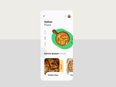 Italian Pizza Animation typography app branding animation after effects animation gradients clean branding pizza uiux design creative modern illustration