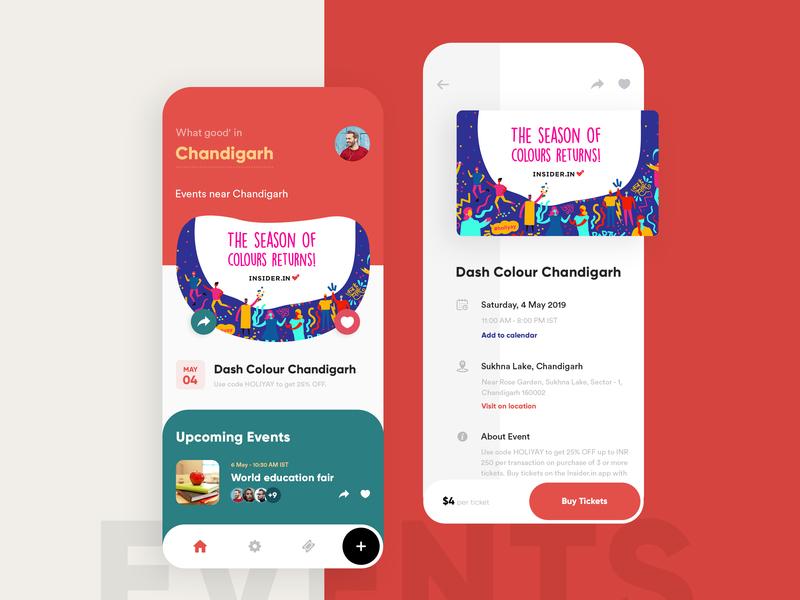 Events App Design dark color mobile ios trending concept app uiux branding events app typography illustration modern clean gradients interface creative design