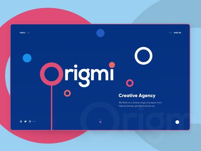 Origmi - Creative Agency agency color web trending concept illustration uiux branding typography website modern clean gradients interface creative design