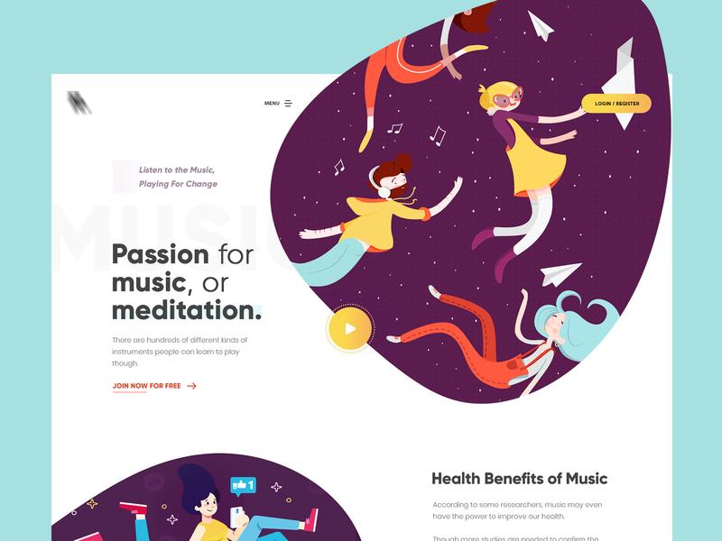 Passion For Music minimal music website gradients website creative interface design web design typography product design print mobile illustration branding