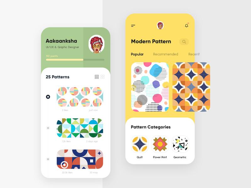 Modern Pattern App trending design concept gradients branding typography design uiux interface modern creative app print pattern illustration