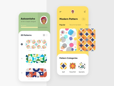 Modern Pattern App trending design concept gradients branding typography design uiux interface modern creative app print pattern illustration