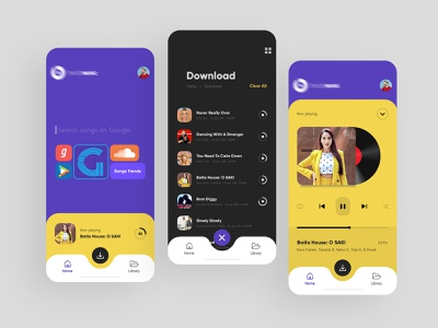 working on music app concept branding mobile app clean typography modern uiux interface creative design music app music player