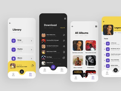 Music App (UI) trending ios app concept mobile branding interface clean typography modern uiux creative design mobile app design music app ui