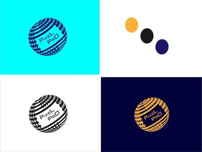 pixel pro gradient color logo technology logo logodesign logotype logo mark logo design branding 3d logo design logo