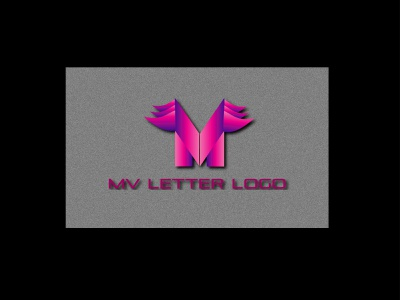 MV LETTER LOGO freelancing illustration brand maker logodesign letter logo gradient color logo logo mark logotype logo design branding logo