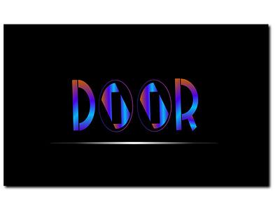 DOOR logodesign illustration brand maker 3d logo design letter logo gradient color logo logo mark logo design branding logotype logo