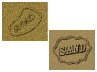 SAND Effect letter logo 3d logo design logo design freelancing illustration brand maker logo mark logo design branding logotype logo
