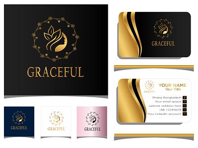 GRACEFUL business card business card design illustration freelancing brand maker gradient color logo logo design branding logotype logo