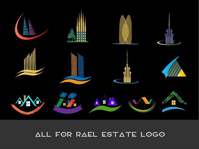 real estate real estate branding real estate logo realestate freelancing 3d logo design brand maker gradient color logo logo mark logo design branding logotype logo