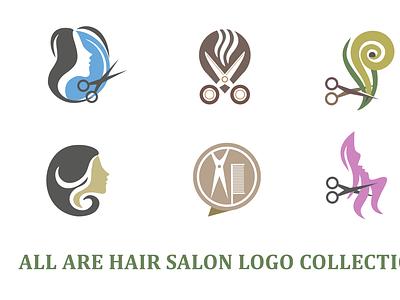 HAIR SALON LOGO logo design brand maker logo mark gradient color logo logo design branding logotype logo hairdresser hair care hairstyle hair cut haircut hair salon