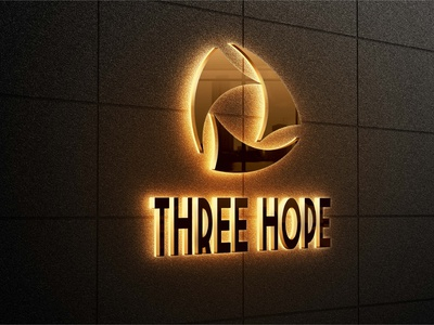 Three Hope logo design branding illustration logodesign 3d logo design brand maker logo mark logo design branding logotype logo