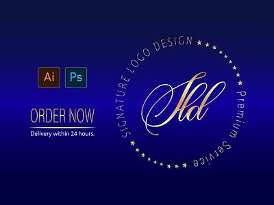 SIGNATURE LOGO design logo mark logotype brand maker logo design branding logo clean and clear signature logo luxury signature logo signature logo