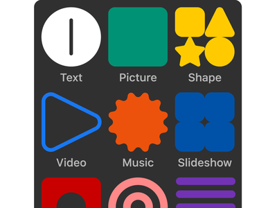 Widget Bar Refreshed in Readymag readymag icons mobile ux interface ui