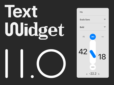 Text widget 2.0 variable fonts fonts interface typography ux readymag ui