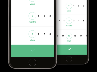 Time period picker: years—months—days