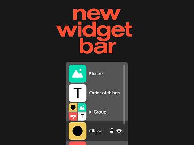 Readymag's New Widget Bar site-builder design readymag interface software ux ui