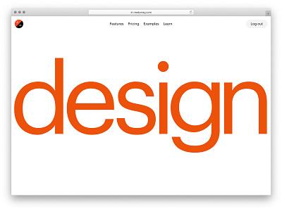 New readymag.com style identity webdesign typography design readymag animation