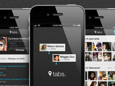 Tabs ui app concept