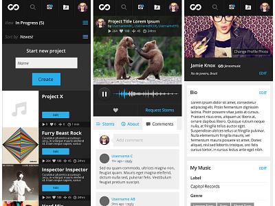 Skio Music Mobile skio music mobile ui layout