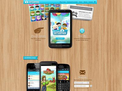airGames Website airg airgames website layout