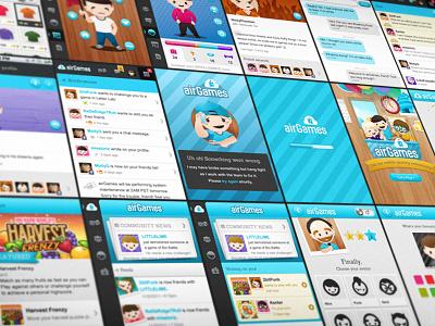 airGames Mobile Screens airg airgames app screens layout