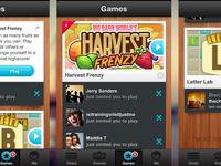 airGames App Screens