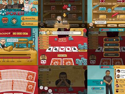Tag Team Poker tagteampoker tagteamgames illustration ui art design