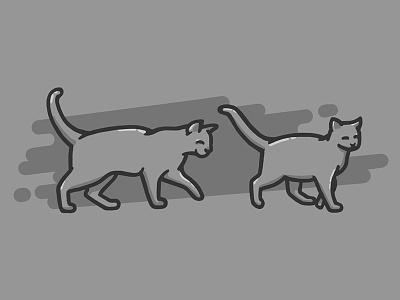 Follow Cat illustration line sketches simple