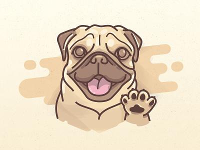 Puggy illustration dog pug