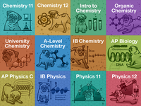 StudyPug Science Textbook Covers
