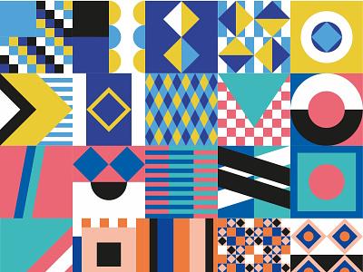 ✏️ Design with social impact 📒 geometric patterns color palette pattern color pattern color geometry minimal design