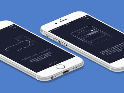 Neuroon smart sleep mask companion iOS app onboarding wearable app ui iphone ios
