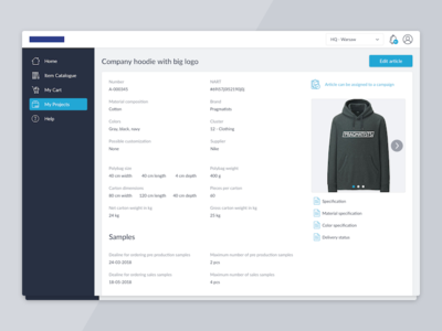 Article preview for e-commerce system ecommerce preview view item e-commerce webapp web ui