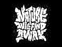 Nature will find a way negativespace tree blackandwhite typism illustration enviroment nature texture handdrawn letter typography type lettering