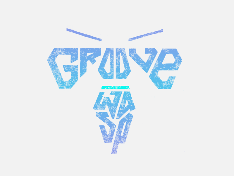 Groove Wasp texture lettering typehue wasp groove