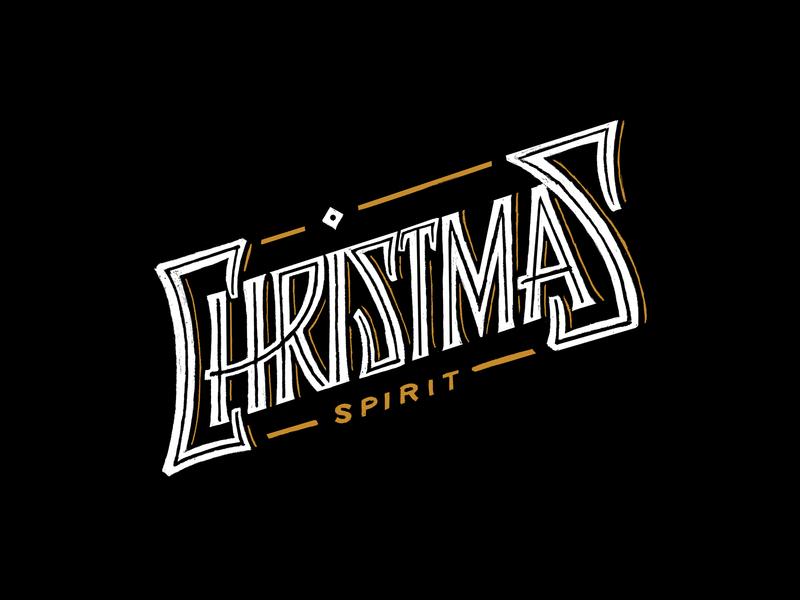 Christmas Spirit homwork typography lettering fun label design label alchohol spirit christmas