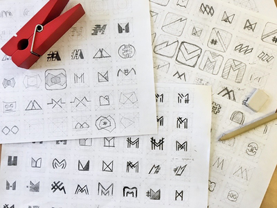 Logo sneak peek logo icon branding sketch draft app icon