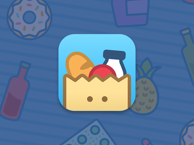 Buy For Me icon mascot illustration cartoon delivery app icon icon