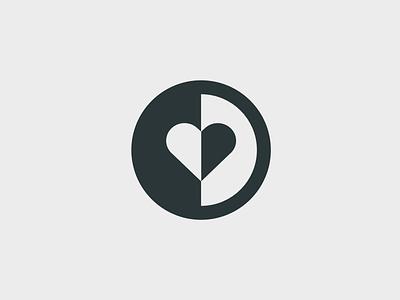 Brandmark for mental health love heart head psychiatry psychology mental health brandmark