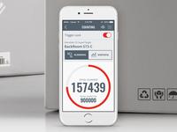 Logistics iOS app design for Checkpoint Systems