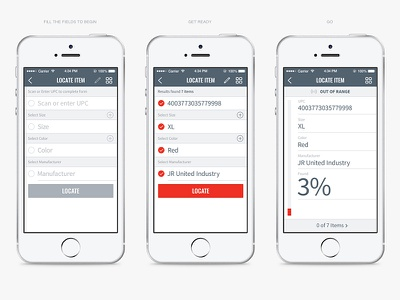 Checkpoint Systems Mobile - Locate item flow locate item logistics warehouse storage scan locate saas iphone