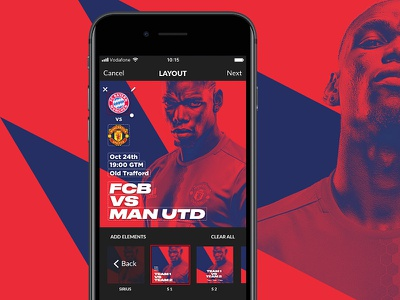 Gameday App - Sports cards for players and fans cards sport editor content builder football iphone