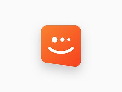 Chat Widget bot user engagement chat clean brandmark saas logo